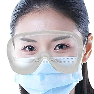ORILEY ORSGR2 Safety Goggles Eye Protection Glasses Anti-Droplets Disposable Protective Eyeglass with Clear…