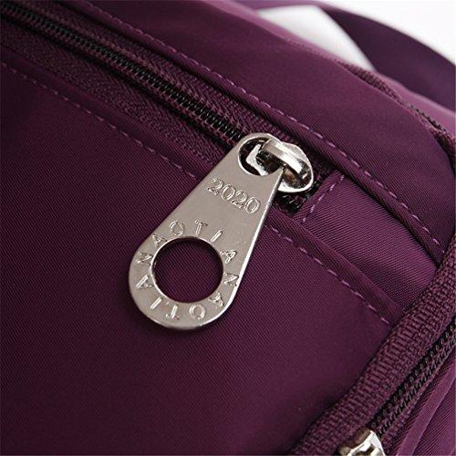 Bag Casual Women XPPURPLE For Cross Bag Bags Hiking Zipped Shoulder B Bag AOTIAN Messenger Closure Body For Day wB1STOZq