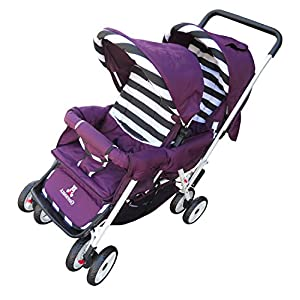 AmorosO Deluxe Double Baby Stroller
