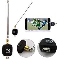 332PageAnn DVB-T USB Sintonizador Receptor Antena HD TV Splitter para Android Smartphone Tablet PC HDTV Mini Tamaño, Ligero, fácil de Transportar