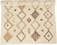 Creative Co-op 4' x 6' Cotton Printed Cut Pile Diamond Pattern Rug, Mu