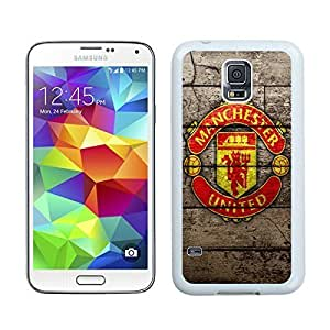 Manchester United 7 White Samsung Galaxy S5 I9600 Hard Plastic Phone Cover Case