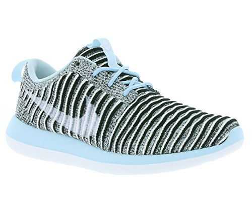 NIKE Women's Roshe Two Flyknit 365 Ankle-High Fashion Sneaker Glacier Blue/White-black cheap sale Manchester clearance amazon low price byYipKtt