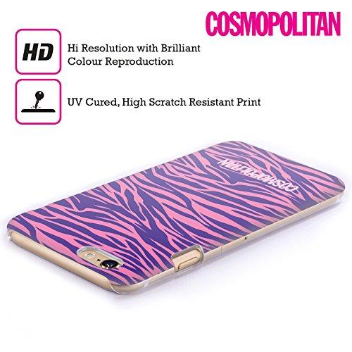 Official Cosmopolitan Pink Violet Zebra Animal Skin Patterns Hard Back Case for Apple iPhone 4 / 4S