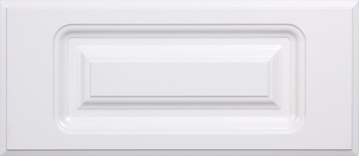Cabinet Doors 'N' More 10'' x 5 3/4'' White RTF Raised Panel Kitchen Drawer Front