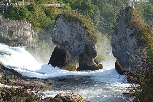 Home Comforts Framed Art for Your Wall Waterfall River Rhine Falls Water Rock Germany 10x13 Frame (River Framed Rhine)