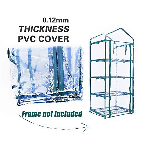 - Homes Garden 4-Tier Shelves Mini Greenhouse Upgraded Replacement Cover Fit for Frame Size 27 in. L x 19 in. D x 63 in. H (Frame Not Included) #G-G304B00