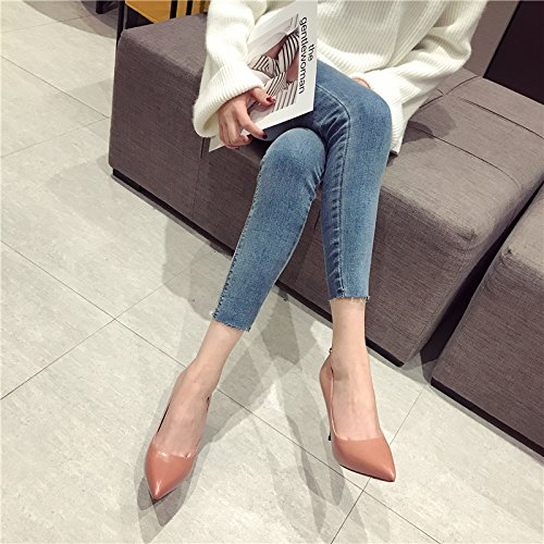 Leisure Elegant With Shoes Heels Single Sharp MDRW Shoes Spring 10 Red Women'S Lady Fine Heels Fashion Retro Orange 37 Heads 5Cm Work 5tnzUZnq