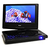OREI 9'' Portable All Multi Region Free Zone DVD Player - 4 Hour Battery, USB input, Car Charger - USB Input Divx Playback