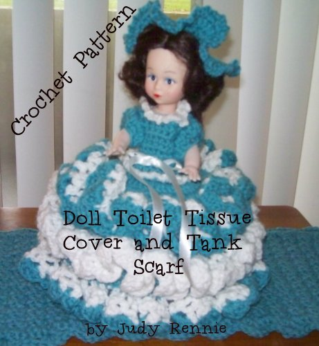 Crochet Pattern - Doll Toilet Tissue Cover and Tank - Doll Crochet Pattern