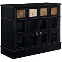 Altra Furniture Ryder Apothecary TV Console, Black, 42
