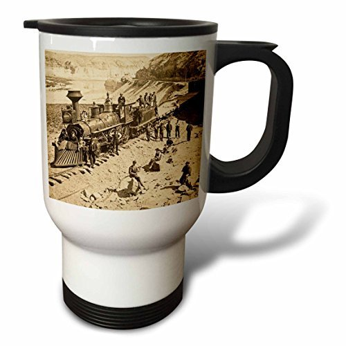 (Modern Travel Mug for Men Scenes From The Union Pacific Railroad Stainless Steel Coffee Tea Travel Mug Cup 14oz Large Mug Gift for Office)