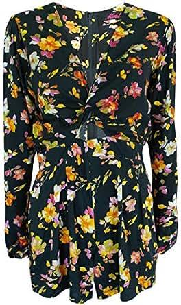 Monroe & Me MR-MLT-5-0305 Jumpsuit for Women - S, Multicolor