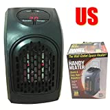 US Wonder Mini Plug In Handy Heater Portable Wall-Outlet Electric Heater Handy Air Heater Warm Air Blower Room Fan Electric Radiator War