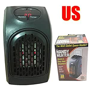 us wonder mini plug in handy heater portable wall outlet electric heater handy air heater warm. Black Bedroom Furniture Sets. Home Design Ideas