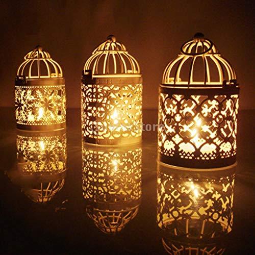 (Tea Light Holder - 1pc Hollow Metal Birdcage Candle Tea Light Holder Candlestick Hanging Lantern Home Centerpieces - Brass Geometric Tree Wall Decorative Blue Flower Burners Warmer Iron B)