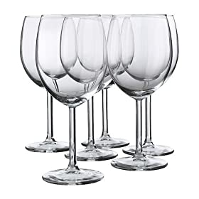 Red Wine Glass By Ikea- Svalka Series SET OF 6, 10...