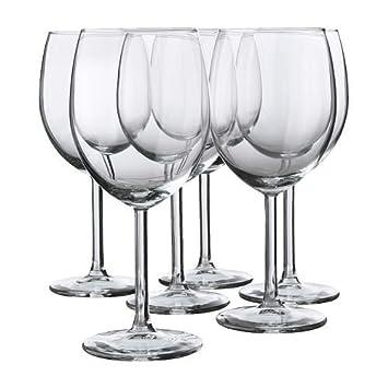 Rotweingläser Ikea ikea 6 er set rotweinglas svalka gläserset mit sechs