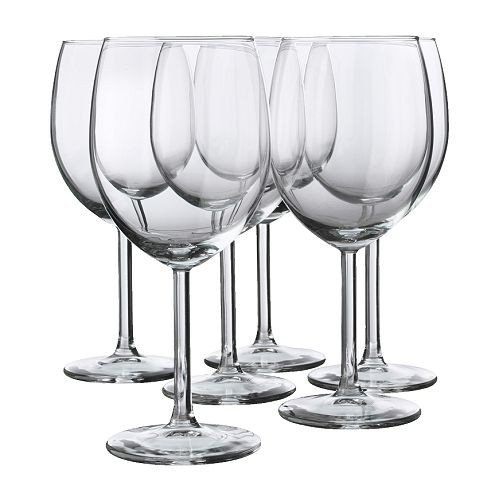 Red Wine Glass By Ikea- Svalka Series SET OF 6, 10 0Z (Glass Wine Set)