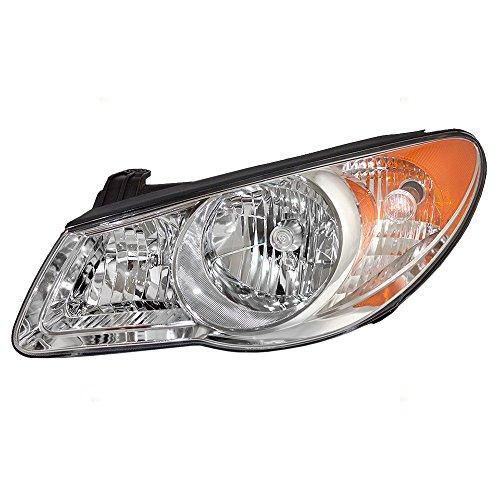 Drivers Halogen Headlight Replacement for 07-10 Hyundai Elantra Sedan Combination Headlamp Park Light Assembly 921012H051 921012H050 AutoAndArt ()