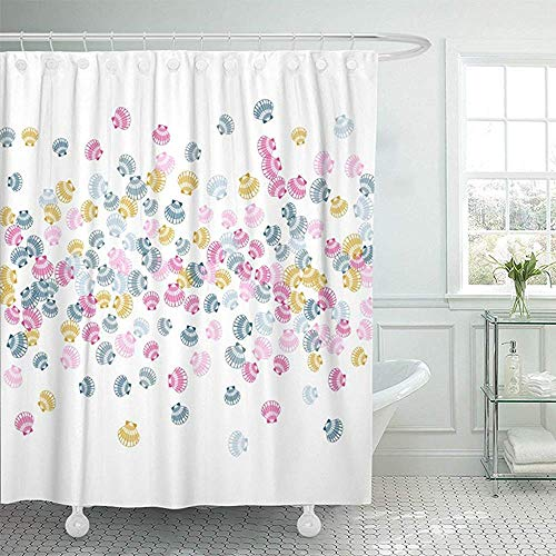 Shower Curtain Water Soap and Mildew Resistant Machine Washable 72