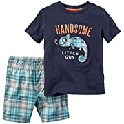 Carter's Baby Boys' 2 Pc Playwear Sets 229g139, Navy, 3 Months