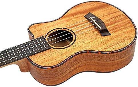 Iycorish Tenor Ac/ústico Ukulele de 26 Pulgadas Guitarra 4 Cuerdas Instrumento de M/úsica de Madera de Caoba de Viaje