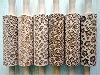 6 ANY pattern Rolling Pin SET. Laser engraved embossing rolling pins for homemade cookies. Choose your patterns!