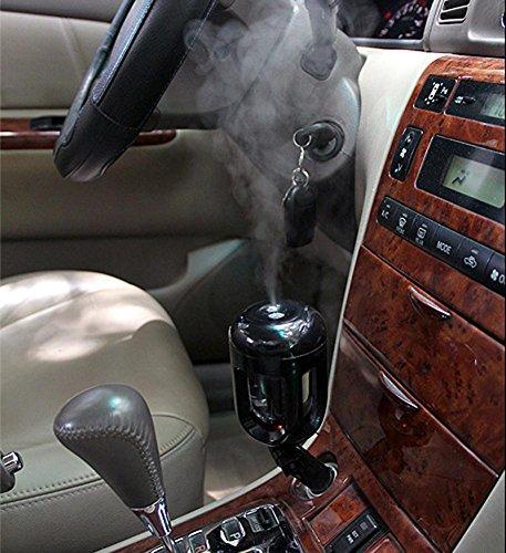 Dacawin Auto Mini Car Humidifier Air Purifier Freshener Travel Car Portable (Black)