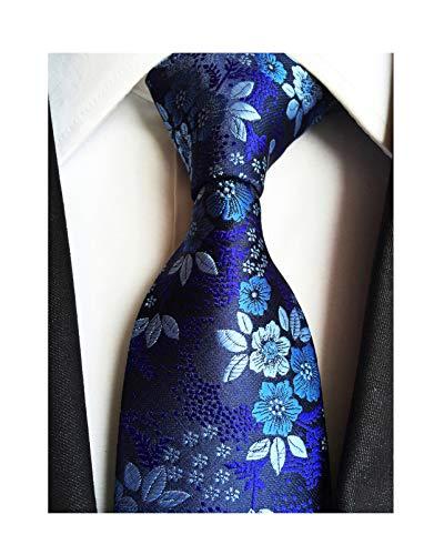 Men's Boys Silk Navy Blue Tie Paisley Pattern 3.15