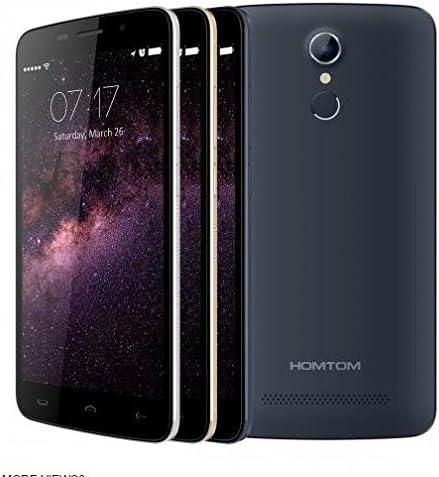 HOMTOM HT17 Android 6.0 Smartphone 4G 5.5 Pulgadas HD de reconocimiento de Huellas Digitales de 64 bits MTK6737 Quad Core de 7,9 mm de Espesor (Negro): Amazon.es: Electrónica