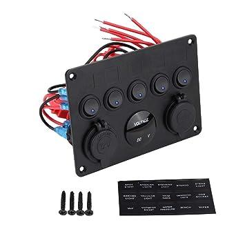 Amazon.com: Rocker Switch Pannel, Panel de interruptor de ...