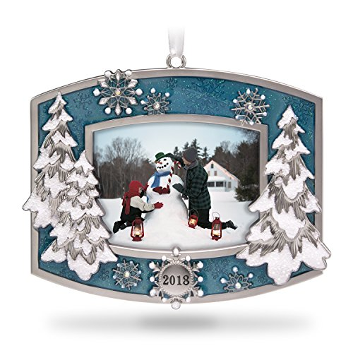 Hallmark Keepsake Christmas Ornament 2018 Year Dated, A Beautiful Year Picture Frame Photo Frame, Metal