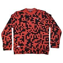 Trukfit Men's Digitial French Terry Crew Neck Sweatshirt