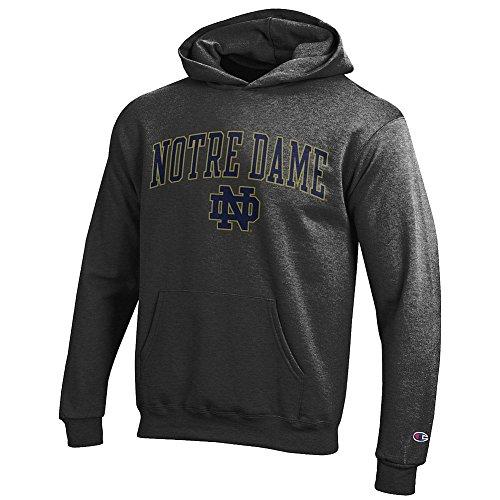 Notre Dame Hoodies - Elite Fan Shop Notre Dame Fighting Irish Kids Hoodie Sweatshirt Charcoal - S