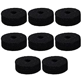 Round Soft Black Cymbal Stand Felt Washer Replacement for Drum Set of 8 5
