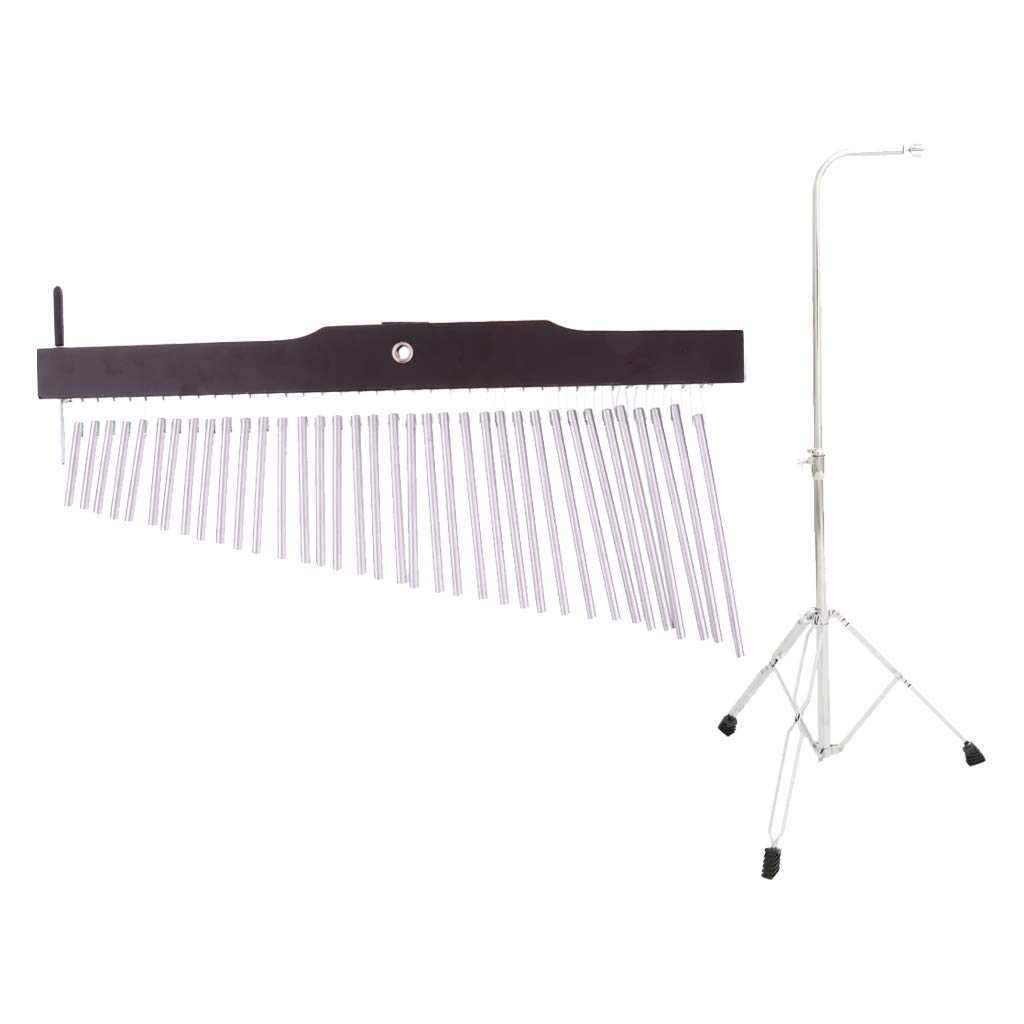 Flameer 36 Tones Aluminum Bar Rod Wind Chime w/Holder for Beginners Students by Flameer