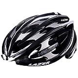 Lazer Helium Helmet: Black/White MD (54-56 CM)