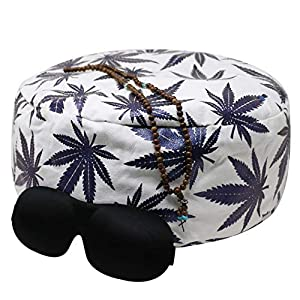 Existentials Buckwheat Meditation Cushion Plus Eye Mask, Mala Necklace, and E-Book – Improve Posture and Never Suffer…