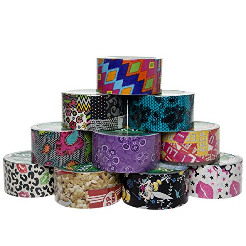 10 rolls printed duck brand duct tape patterns arts for Bulk arts and crafts
