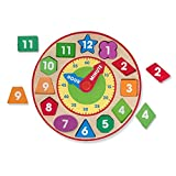 Melissa & Doug Shape Sorting Clock (Developmental Toy, Sturdy Wooden Construction, Develop Time-Telling Skills)