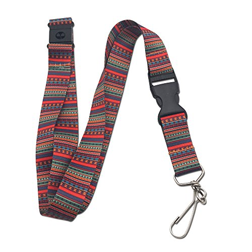 Colorful Tribal Premium Lanyard with Breakaway Clasp and Flat Ring by Limeloot]()
