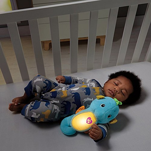 51dSCH6pWTL - Fisher-Price Soothe & Glow Seahorse, Blue