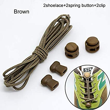 1 pair and 2 locks Shoe Laces Elastic Sneaker Stretching Lock lace  2 laces