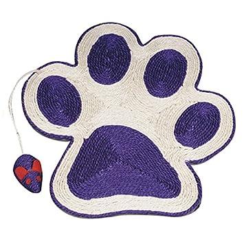 Arquivet 8435117843318 - Rascador Huella Lila con ratón 40 * 36 cm