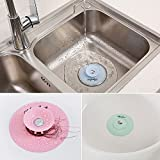 Shower Drain Stopper Plug Bathtub Cover Silicone Hot Bathtub Strainers Protectors Good Grips Hair Catchers for Floor, Laundry, Kitchen and Bathroom, 2 in 1 Stop & Filters - 4pcs