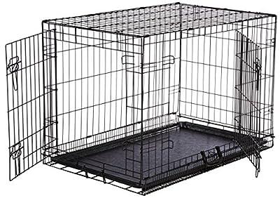 AmazonBasics Folding Metal Dog Crate by AmazonBasics