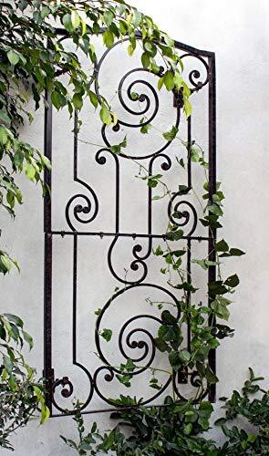 H Potter Iron Garden Wall Trellis with Mounting Brackets Gar616w1