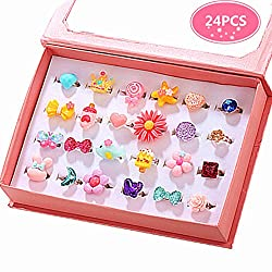 Girl Jewel Rings in Box