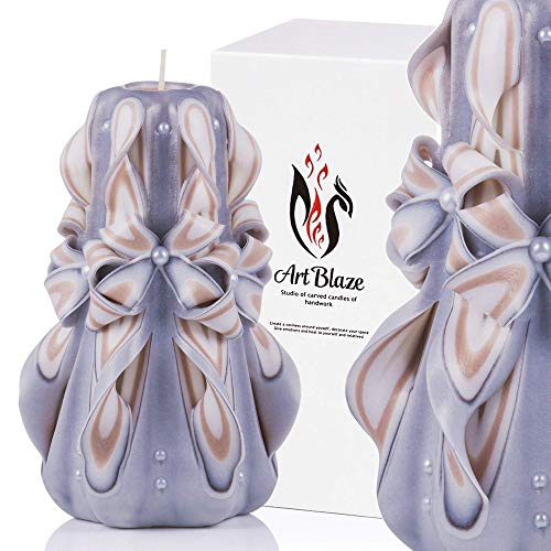 Gift Candles - Decorative Carved Candles - Birthday Gifts for Women - Gifts for Mom - Holiday Gift Idea for Her - Royal Candle by Art Blaze Studio